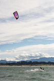 Kitesurf in Santander Bay Stock Photos
