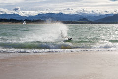 Kitesurf in Santander Bay Royalty Free Stock Images