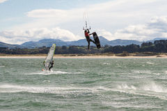 Kitesurf in Santander Royalty Free Stock Photo