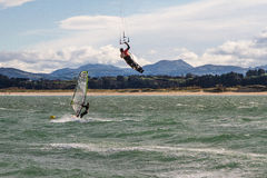 Kitesurf in Santander Royalty Free Stock Photography