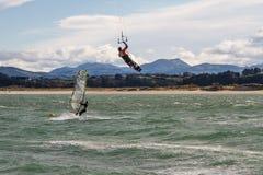 Kitesurf in Santander Royalty Free Stock Photography