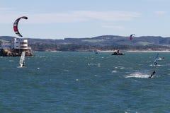 Kitesurf in Santander Royalty Free Stock Photo