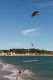 Kitesurf in Santander Royalty Free Stock Photos
