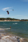 Kitesurf in Santander Stock Photo