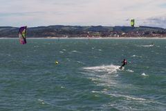 Kitesurf in Santander Stock Photos
