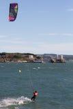 Kitesurf in Santander Stock Photo
