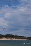 Kitesurf in Santander Bay Stock Images