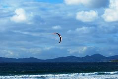 Kitesurf. Sliding sport consisting of the use of a traction kite Stock Photography
