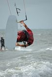 Kitesurf Sprung Lizenzfreie Stockbilder