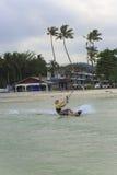 Kitesurf sur l'île de Koh Samui 31 janvier 2015 Photos libres de droits