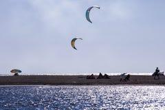 Kitesurf vingar Arkivfoto
