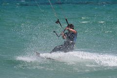 Kitesurf water wave Stock Image