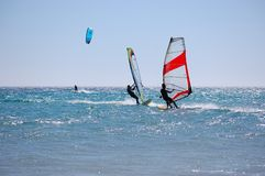 Kitesurf Windsurf Stockfoto
