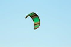 The kitesurf wing over blue sky Stock Photos
