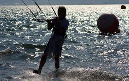 kitesurfer действия Стоковые Изображения