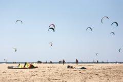 Пляж Prasonisi Стоковое Изображение RF