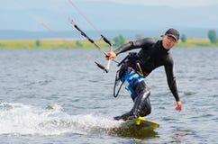 Kitesurfer Royalty-vrije Stock Afbeeldingen
