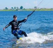 kitesurfer 免版税库存图片