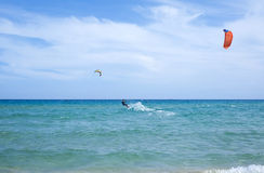 Kitesurfer Стоковое Изображение RF