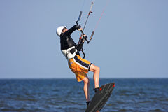 Kitesurfer στοκ φωτογραφία
