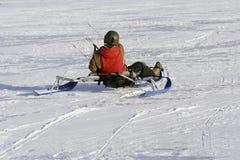 kitesurfer 免版税图库摄影