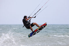 Kitesurfer in action