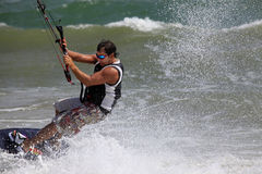 Kitesurfer in action Stock Image