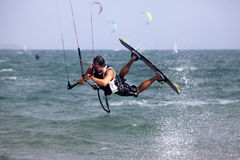 Kitesurfer in action Stock Images