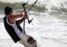 Kitesurfer in action Royalty Free Stock Photography