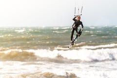 Kitesurfer in action Stock Photos