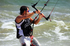 Kitesurfer in action Stock Image