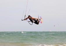Kitesurfer in action Stock Photo
