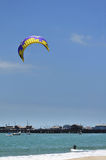 Kitesurfer at the beach Royalty Free Stock Image