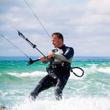 Kitesurfer in Black Sea, Crimea Stock Image