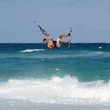 Kitesurfer in de Caraïben Stock Foto's