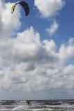 Kitesurfer jumping Stock Photography