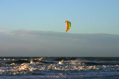 Kitesurfer, Katwijk, Paesi Bassi/Nederland immagine stock
