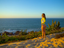 Kitesurfer nel Brasile Fotografie Stock Libere da Diritti
