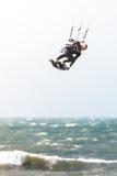 Kitesurfer nell'azione Fotografie Stock