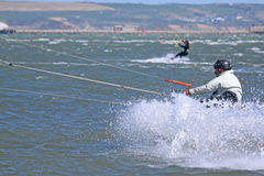 Kitesurfer in Portland harbour Stock Photography