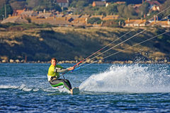 Kitesurfer in Portland harbour Stock Photos