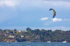 Kitesurfer in Portland harbour Stock Photography