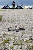 Kitesurfer profissional Imagem de Stock Royalty Free
