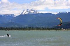 Kitesurfer przy Squamish Zdjęcie Stock