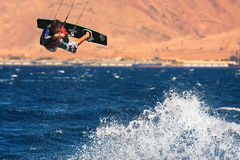 Kitesurfer on the Red Sea. Stock Images