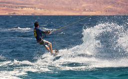 Kitesurfer on the Red Sea. Stock Photo
