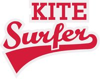 Kitesurfer retro font. Vector sports Royalty Free Stock Photography