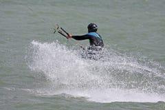 Kitesurfer riding Royalty Free Stock Images