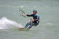 Kitesurfer riding Stock Photography