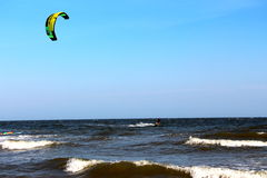 Kitesurfer ripping along Royalty Free Stock Image
